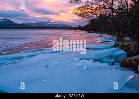 Loch Morlich, Aviemore, Badenoch, Scotland, United Kingdom - Stock Photo