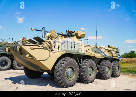 Russian infantry Fighting vehicle IFV. Worth the armament of the Russian Army - Stock Photo