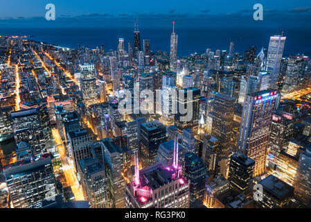 Chicago. Cityscape image of Chicago downtown during twilight blue hour. - Image - Stock Photo