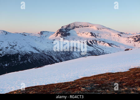 Mountain at winter in Norway, Tromso - Stock Photo