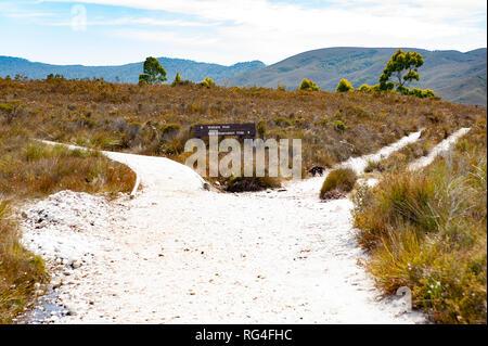 Walking track, South West Tasmania, Australia - Stock Photo