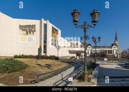 NOVI SAD, VOJVODINA, SERBIA - NOVEMBER 11, 2018: Building of Serbian National Theatre in the City of Novi Sad, Vojvodina, Serbia - Stock Photo