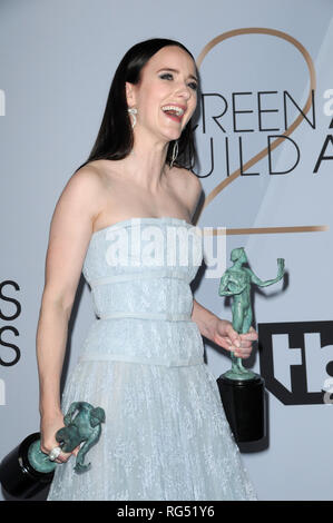 January 27, 2019 - Los Angeles, California, U.S. - Rachel Brosnahan at the 25th Annual Screen Actors Guild Awards at the Shrine Auditorium in Los Angeles, CA (Credit Image: © Kay Blake/ZUMA Wire) - Stock Photo
