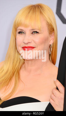Los Angeles, USA. 27th Jan, 2019. Patricia Arquette arriving at the 25th Annual Screen Actors Guild Awards at The Shrine Auditorium on January 27, 2019 in Los Angeles, California Credit: Tsuni / USA/Alamy Live News - Stock Photo