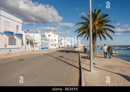 Traditional Portuguese fishing village, Santa Luzia, Algarve, Portugal, Europe. - Stock Photo