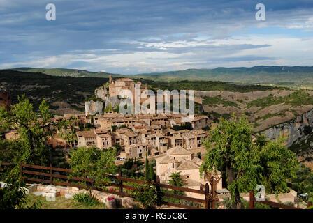 View of Alquezar, Spain - Stock Photo