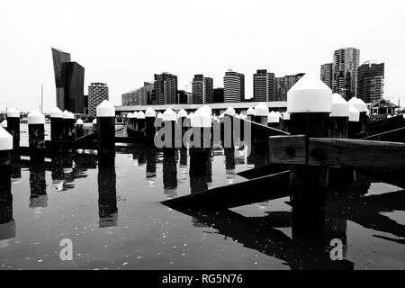 Australia, Victoria, VIC, Melbourne, Docklands, Victoria Harbour - Stock Photo