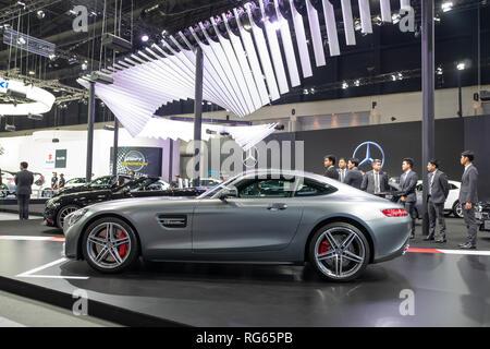 Bangkok, Thailand - November 30, 2018 :  Mercedes Benz Modified car show at Thailand International Motor Expo 2018 (MOTOR EXPO 2018) on Nov 30,2018 in - Stock Photo
