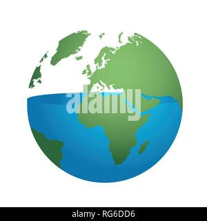 half of the water on earth is used up environmental protection concept vector illustration EPS10 - Stock Photo