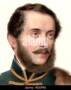 Lajos Kossuth 1848. Lajos Kossuth de Udvard et Kossuthfalva  was a Hungarian nobleman, lawyer, journalist, politician, statesman and Governor-President of the Kingdom of Hungary during the revolution of 1848–49. - Stock Photo