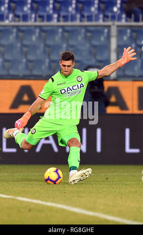"Foto LaPresse - Tano Pecoraro 26 01 2019 Genova - (Italia) Sport Calcio Sampdoria vs Udinese Campionato di Calcio Serie A TIM 2018/2019 - Stadio ""Luigi Ferraris"" nella foto: musso juan  Photo LaPresse - Tano Pecoraro 26 January 2019 City Genova - (Italy) Sport Soccer Sampdoria vs Udinese Italian Football Championship League A TIM 2018/2019 - ""Luigi Ferraris"" Stadium in the pic: musso juan - Stock Photo"