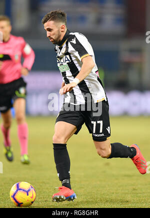 "Foto LaPresse - Tano Pecoraro 26 01 2019 Genova - (Italia) Sport Calcio Sampdoria vs Udinese Campionato di Calcio Serie A TIM 2018/2019 - Stadio ""Luigi Ferraris"" nella foto: d'alessandro marco  Photo LaPresse - Tano Pecoraro 26 January 2019 City Genova - (Italy) Sport Soccer Sampdoria vs Udinese Italian Football Championship League A TIM 2018/2019 - ""Luigi Ferraris"" Stadium in the pic: d'alessandro marco - Stock Photo"