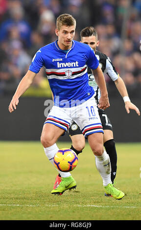 "Foto LaPresse - Tano Pecoraro 26 01 2019 Genova - (Italia) Sport Calcio Sampdoria vs Udinese Campionato di Calcio Serie A TIM 2018/2019 - Stadio ""Luigi Ferraris"" nella foto: praet dennis  Photo LaPresse - Tano Pecoraro 26 January 2019 City Genova - (Italy) Sport Soccer Sampdoria vs Udinese Italian Football Championship League A TIM 2018/2019 - ""Luigi Ferraris"" Stadium in the pic: praet dennis - Stock Photo"