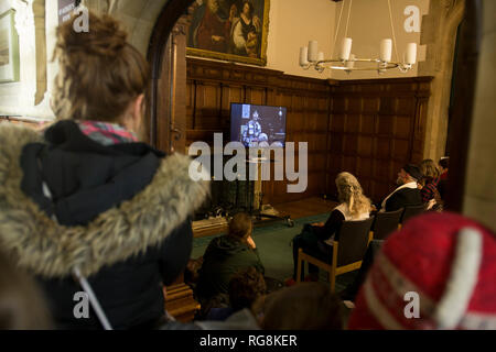 Oxford, UK. 28th January 2019. A motion to declare a state of climate emergency. Proposed by Green councillor Craig Simmonds, the motion was passed by Oxford City Council, evening of Monday 28th January 2018 at Oxford Town Hall. The motion carried  proposes that all decisions made by council  must be made with a state of climate emergency to be considered. Credit: adrian arbib/Alamy Live News - Stock Photo