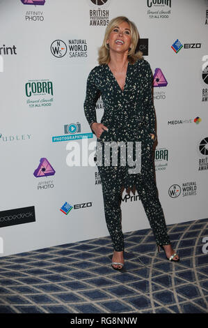 London, UK. 28th Jan, 2019. Anthea Turner attends the British Photography Awards at the savoy Hotel in London. Credit: SOPA Images Limited/Alamy Live News - Stock Photo