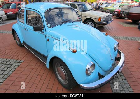 BYTOM, POLAND - SEPTEMBER 12, 2015: Volkswagen Beetle during 12th Historic Vehicle Rally in Bytom. The annual vehicle parade is one of main events of  - Stock Photo