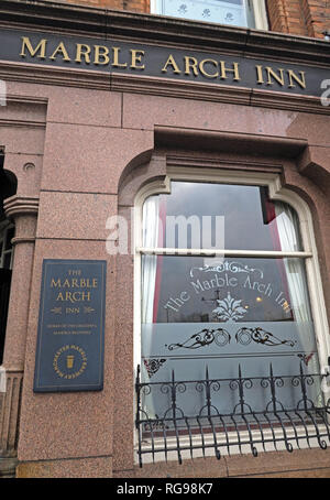 The Marble Arch Inn, Marble Brewery, 73 Rochdale Road, Manchester City Centre, North West England, UK,  M4 4HY - Stock Photo