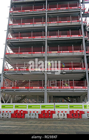 Create Construction site, Rochdale Road, Manchester, City Centre, North West England, UK , M4 4BZ - Stock Photo