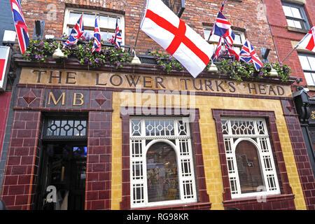 The Lower Turks Head, 36 Shudehill, Manchester, North West England, UK, M4 1EZ - Stock Photo