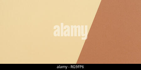 Color papers geometry composition background with beige and brown tones - Stock Photo