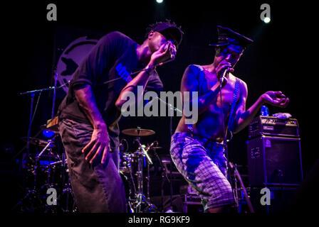 The alternative rock band Fishbone performing live at Kesselhaus, Berlin - Germany. - Stock Photo