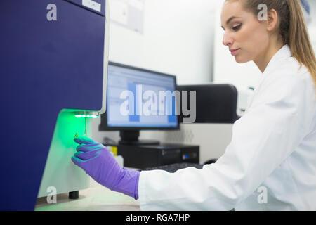 Flowcytometrical analysis of sample - Stock Photo