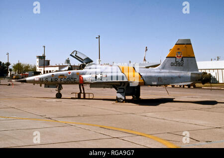 USAF United States Air Force Northrop F-5A Freedom Fighter - Stock Photo