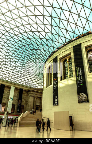 The Queen Elizabeth II Great Court, British Museum, Bloomsbury, London, England, UK. - Stock Photo