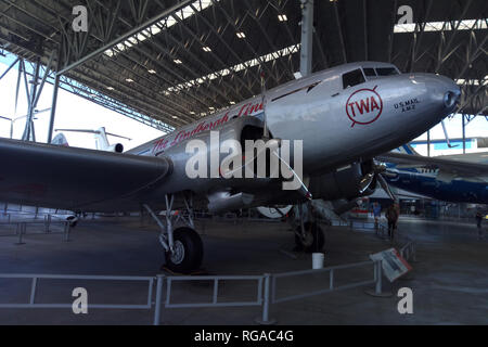 Seattle, USA - September 2, 2018: The Museum of flight is the largest private air and space one in the world - Stock Photo