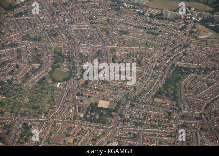 Aerial View of Coventry streets - Stock Photo
