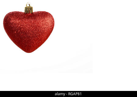 Heart Christmas light shaft - Stock Photo