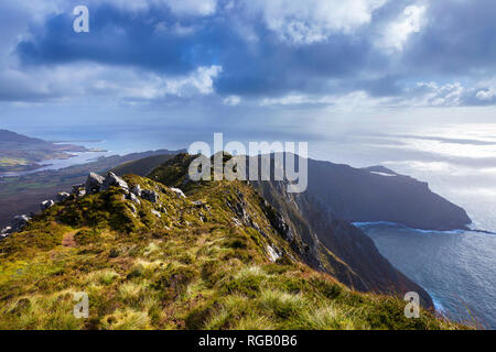 Slieve League, Sliabh Liag, cliffs in West Donegal, Ireland - Stock Photo