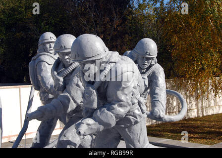 Monument to the Liquidators of Chernobyl who bravely dealt with the nuclear disaster in 1986 - Stock Photo