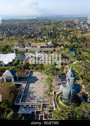 Indonesia, Bali, Aerial view of GWK park, Garuda statue - Stock Photo
