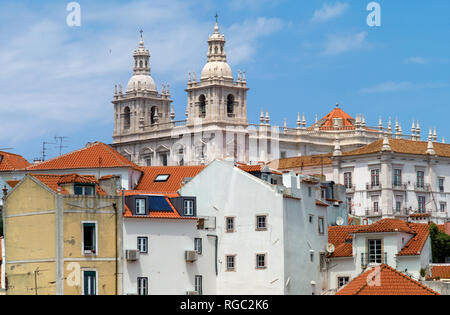 Monastery of São Vicente de Fora (St. Vincent Outside the Walls), Lisbon, Portugal - Stock Photo