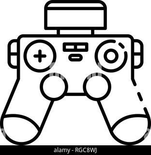 Drone joystick icon, outline style - Stock Photo