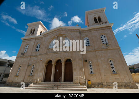 Exterior of the Church of Agios Kendeas in Paphos, Cyprus. - Stock Photo