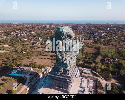 Indonesia, Bali, Aerial view of GWK park, Vishnu statue and Garuda - Stock Photo