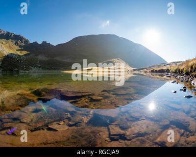 Italy, Lombardy, Bergamasque Alps, Laghetto Vivione - Stock Photo