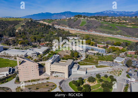 Aerial view of the Cal Poly Pomona campus, California - Stock Photo