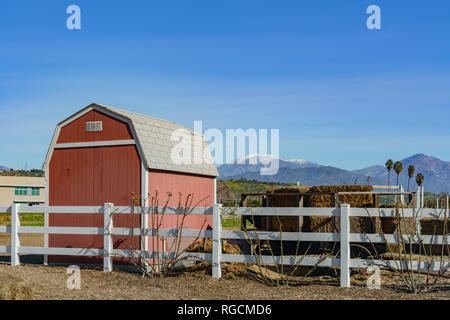 Exterior view of a farm of Cal Poly Pomona at Los Angeles County, California - Stock Photo
