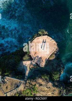 Indonesia, Bali, Aerial view of viewpoint at Balangan beach - Stock Photo
