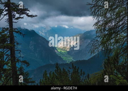 Austria, Salzburg State, Berchtesgaden Alps, View from Persailhorn - Stock Photo