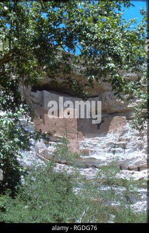 A view of Montezuma Castle in Arizona. - Stock Photo