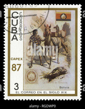 Postage stamp from Cuba in the  Capex'87 series issued in 1987 - Stock Photo