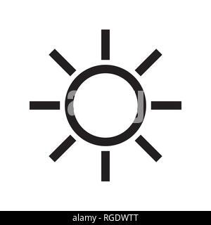 Black Sun icon. Vector and illustration symbol. - Stock Photo