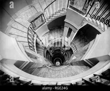 stairs, milan ctock exchange, 1920-30 - Stock Photo
