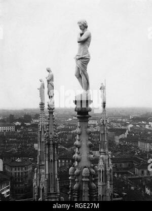 Italy, Milan, spiers of the Duomo, 1910-20 - Stock Photo