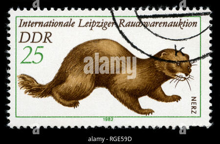 Postmarked stamp from the East Germany (DDR)  in the  series issued in - Stock Photo