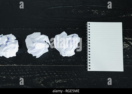 concept of drafting documents and struggling to write a text, set of
